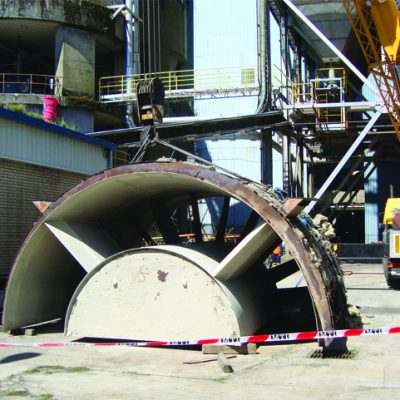 Revisión de ventiladores de tiro forzado e inducido en la Central Térmica de Meirama