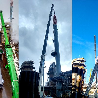 Fabricación e instalación de chimenea en Asturiana de Zinc