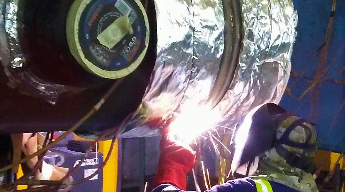 Fabricación de colector de vapor de alta presión para la planta de Ciclo Combinado de Escombreras.